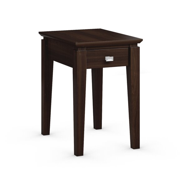 Windward Chairside Table with Power Station by Caravel
