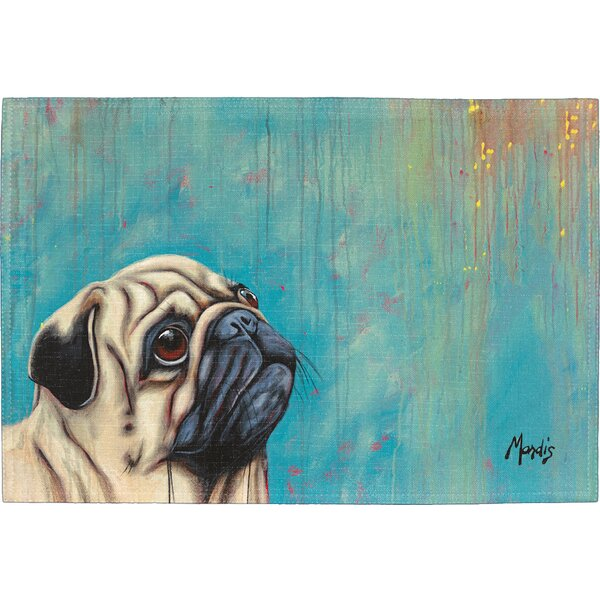 Pug Placemat (Set of 2) by East Urban Home