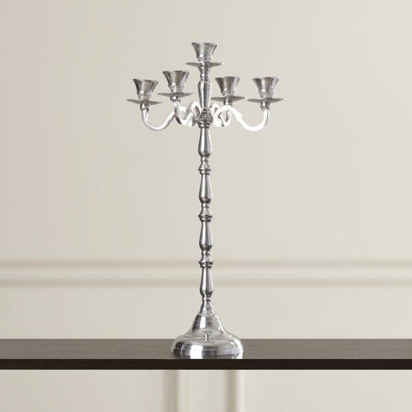 Attractive Aluminum Candelabra by House of Hampton