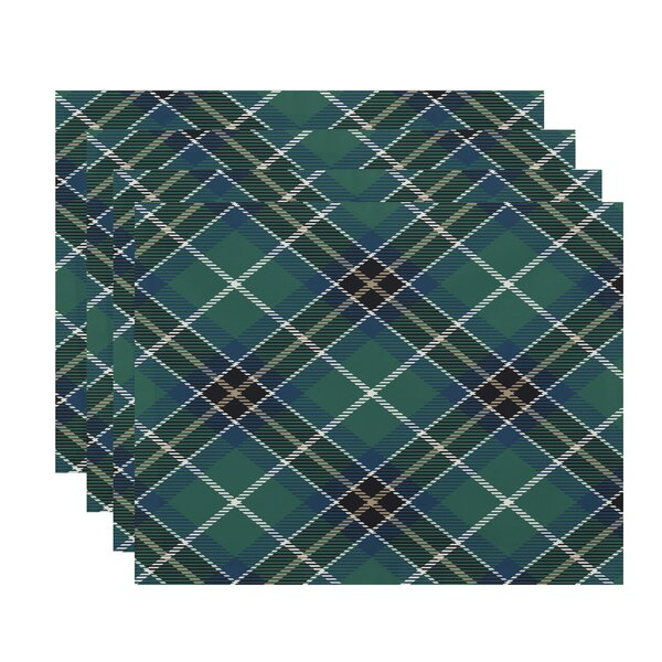 Welliver Mad for Plaid 18 Placemat (Set of 4) by Millwood Pines