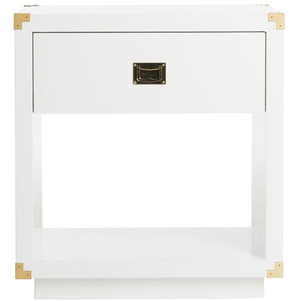 Neria Floor Shelf End Table With Storage By Brayden Studio