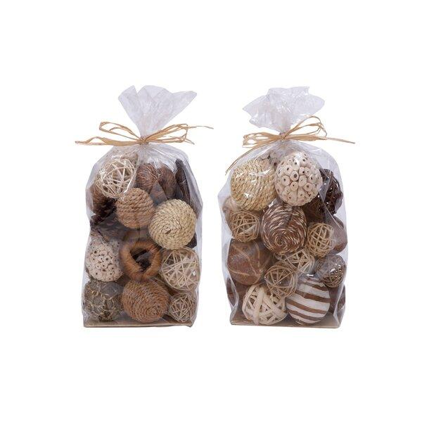 2 Piece Natural Decorative Ball Bag Set by Cole &