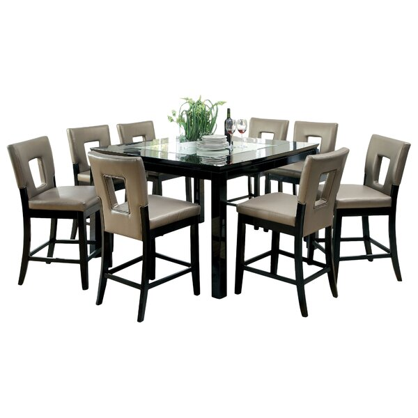 Vanderbilte 9 Piece Counter Height Dining Set by Hokku Designs