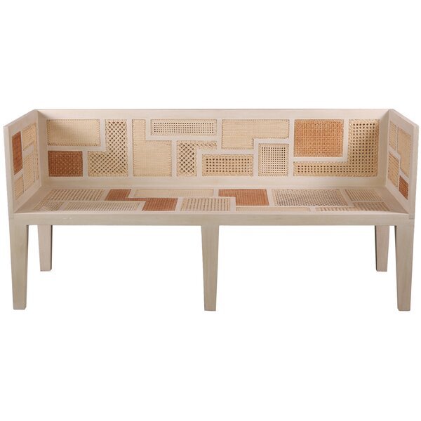 Ito Kish Wicker Bench by Oggetti