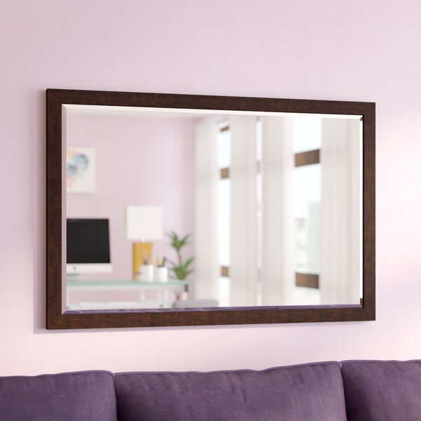 Larabee Wood Frame Beveled Edged Wall Mirror by Latitude Run