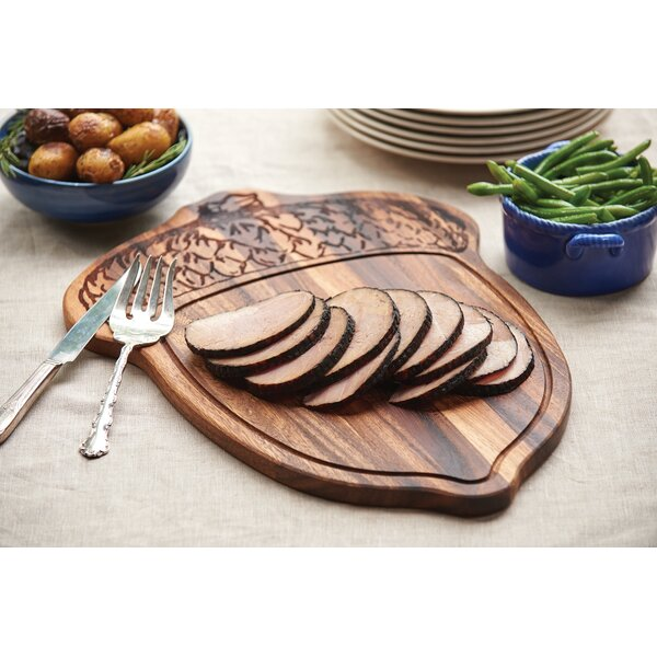 Acacia Wood Oak Nut Carve and Serve Platter by Ironwood Gourmet