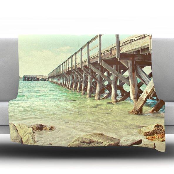 On The Pier by Debbra Obertanec Fleece Throw Blanket by East Urban Home