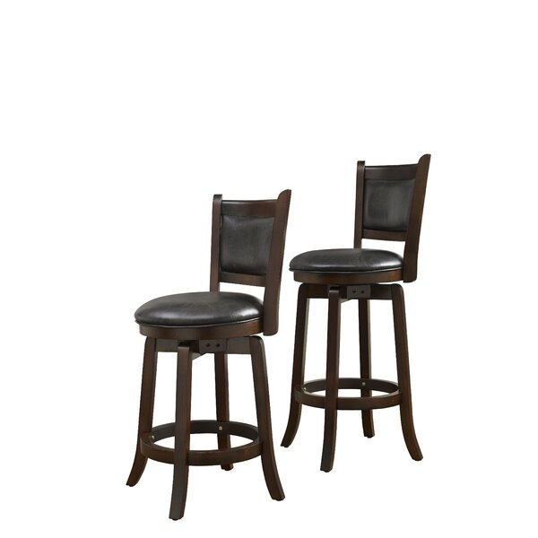 Leatherman 24 Bar Stool by Alcott Hill