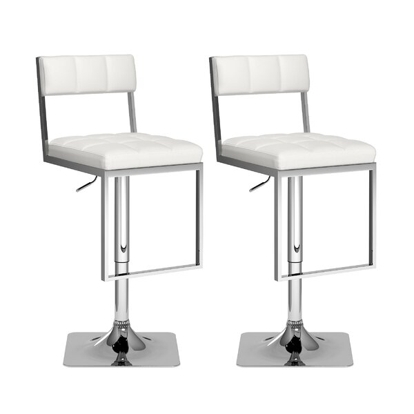 Frasure Adjustable Height Swivel Bar Stool (Set of 2) by Red Barrel Studio