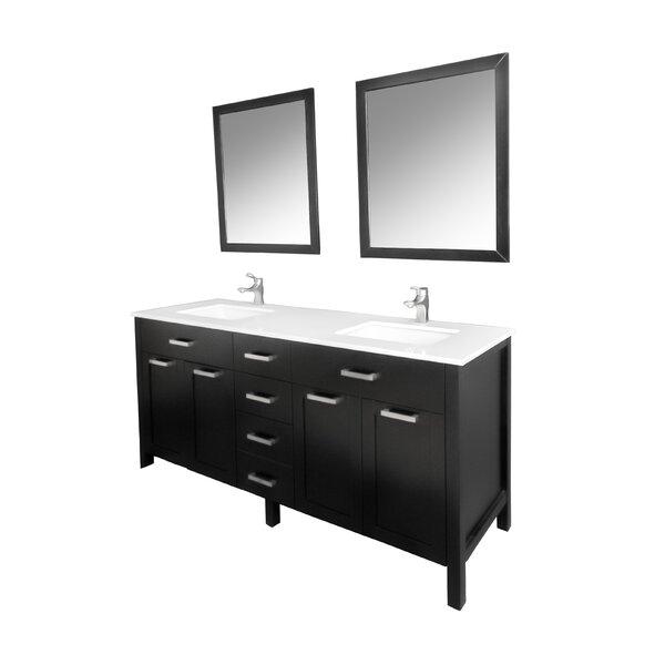 Drake 60 Double Bathroom Vanity Set with Mirror by Brayden Studio
