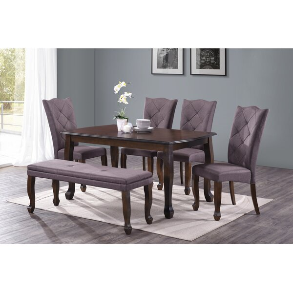 Reyer 6 Piece Dining Set by Charlton Home