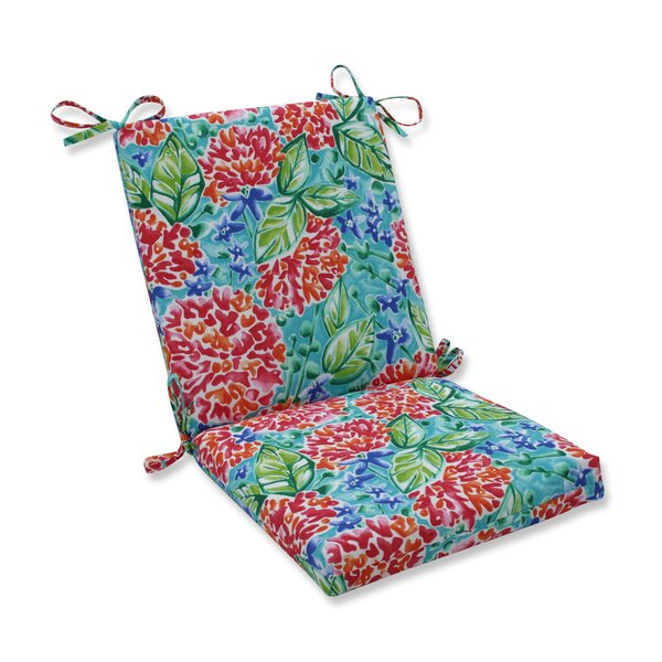 Earls Blooms Indoor/Outdoor Dining Chair Cushion by Highland Dunes Highland Dunes