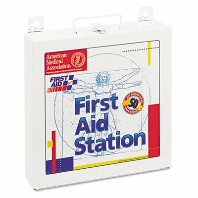 First Aid Station for 50 People, 196 Pieces, Osha Compliant, Metal Case by First Aid Only™