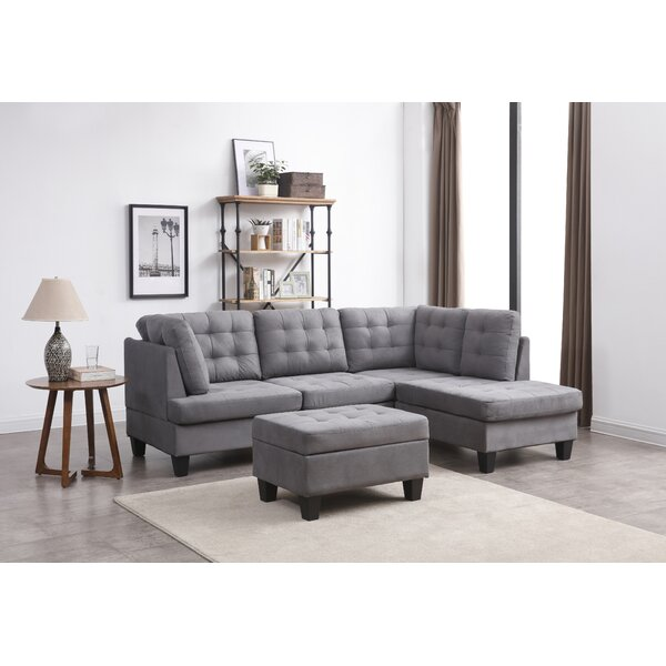 Excellent Quality Americus Reversible Modular Sectional with Ottoman by Three Posts by Three Posts