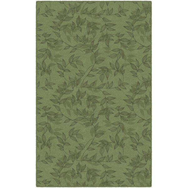Roxana Floral Green Area Rug by Winston Porter