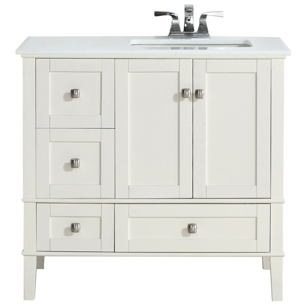 Chelsea 37 Single Right Offset Bath Vanity Set by Simpli Home