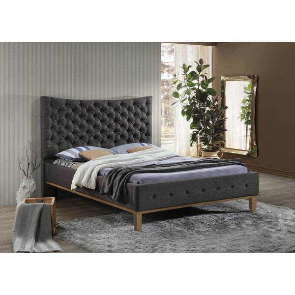 Wheaton Modern Queen Upholstered Platform Bed by Rosdorf Park