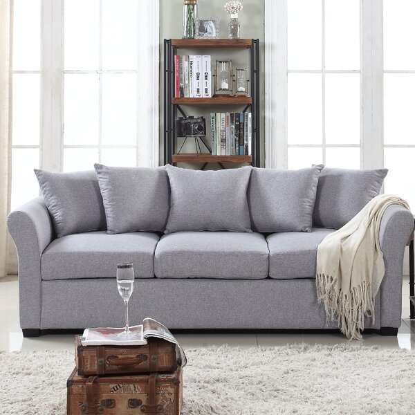 Best Recommend Santucci Linen Sofa Hot Bargains! 40% Off