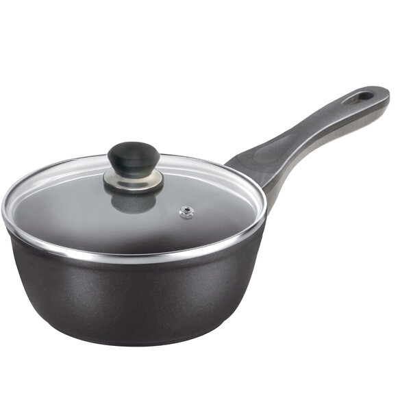 Cosette Titanium Induction 2 qt. Stainless Steel Sauce Pan with Lid by Symple Stuff