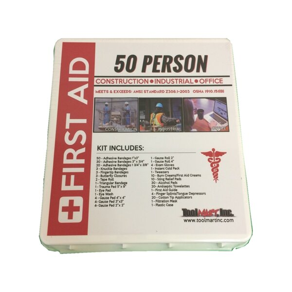 50 Person First Aid Kit by TMI Gifts