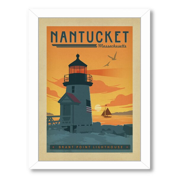 Nantucket Framed Vintage Advertisement by East Urban Home