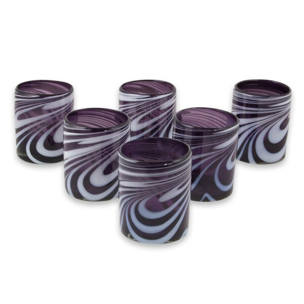 Traditions Whirling 11 oz. Water/Juice Glass (Set of 6) by Zipcode Design