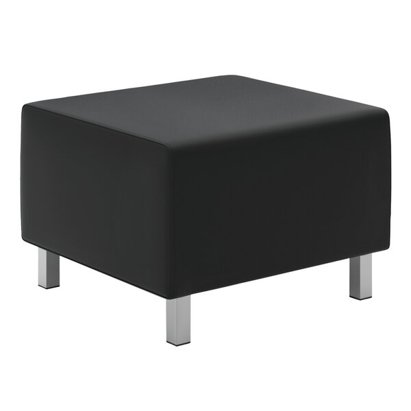 Free S&H Leather Ottoman