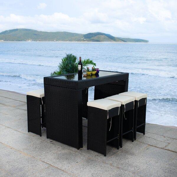 Jarmericus 7 Piece Bar Height Dining Set with Cushions by Latitude Run
