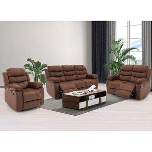 Haidi 3 Piece Reclining Living Room Set (Set of 3) by Red Barrel Studio®