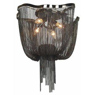 Best Price Eduardo 4-Light Waterfall Chandelier By Rosdorf Park