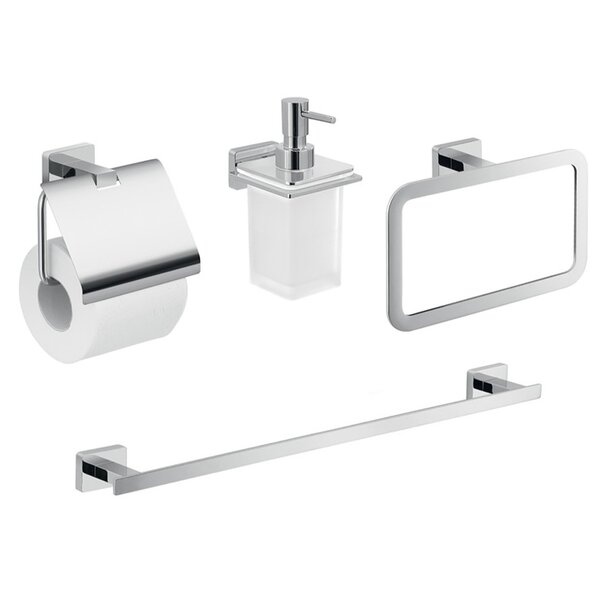 Atena 4 Piece Bathroom Hardware Set by Gedy by Nameeks