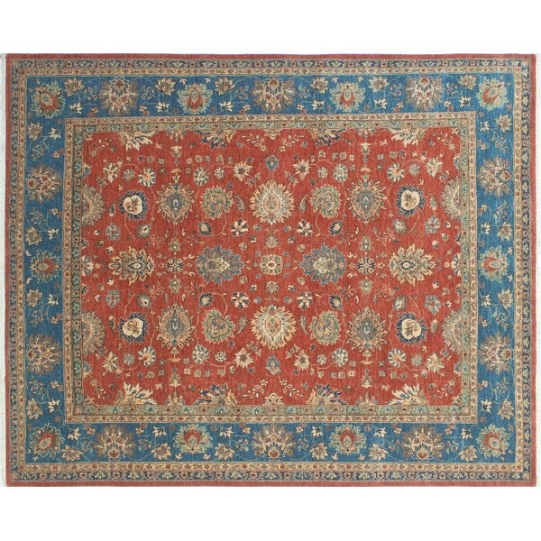 Rosewood Hand-Knotted Rust Area Rug by Canora Grey
