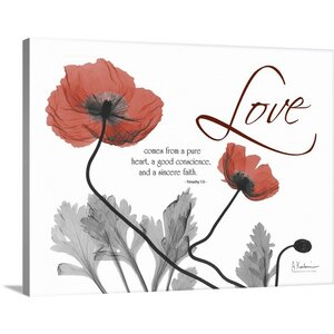 Love Poppies X-Ray by Albert Koetsier Photographic Print on Canvas by Great Big Canvas