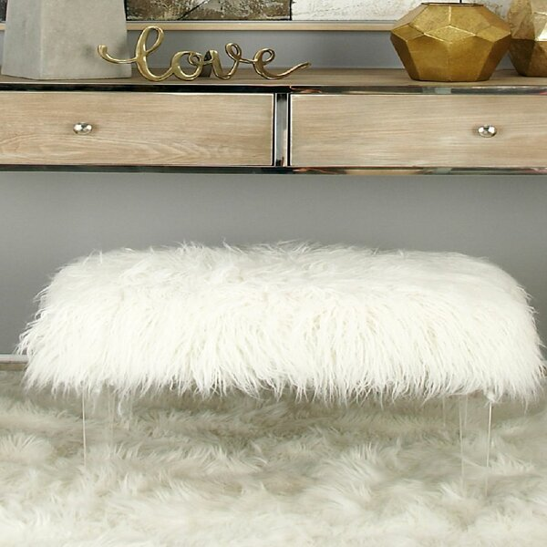 Acrylic Faux Hair Stool by Cole & Grey