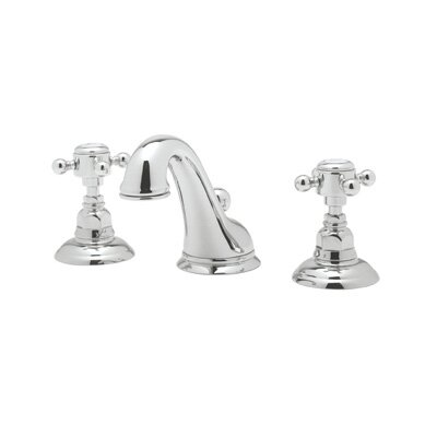 Rohl A1408LC-2 Country Bath Low Lead Widespread Bathroom Faucet with Pop-Up Drain and Swarovski Crystal Cross Handles by Rohl