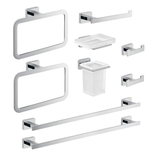Atena 9 Piece Bathroom Hardware Set by Gedy by Nameeks