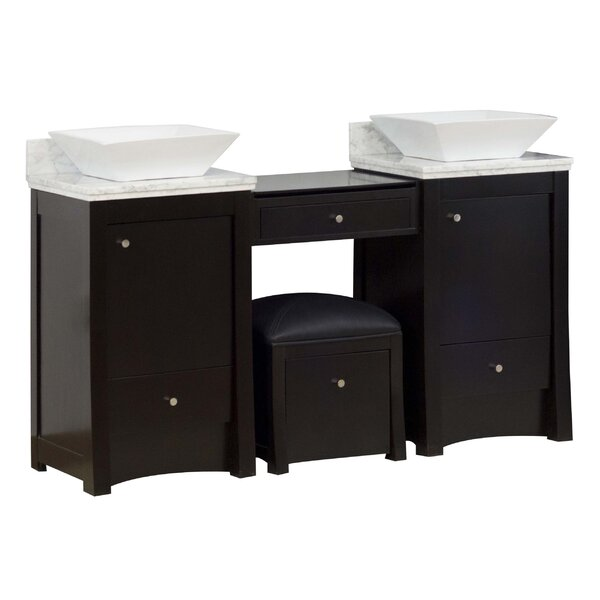 Kimbrell Wall Mount 61 Double Bathroom Vanity Set by Royal Purple Bath Kitchen