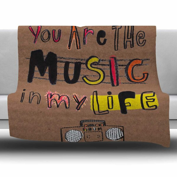 Music In My Life by MaJoBV Fleece Blanket by East Urban Home