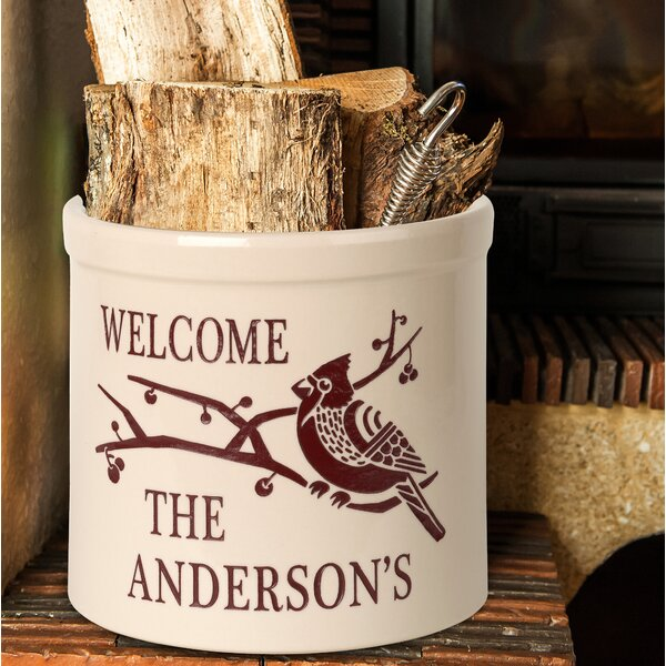 Woodell Personalized Deco Cardinal Welcome Ceramic Pot Planter by August Grove