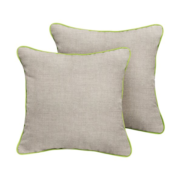 Curley Sunbrella Cast Outdoor Throw Pillow (Set of 2) by Red Barrel Studio