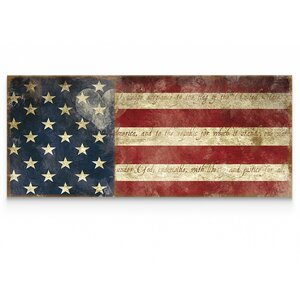 'I Pledge Allegiance' by Carol Robinson Graphic Art on Wrapped Canvas by Wexford Home