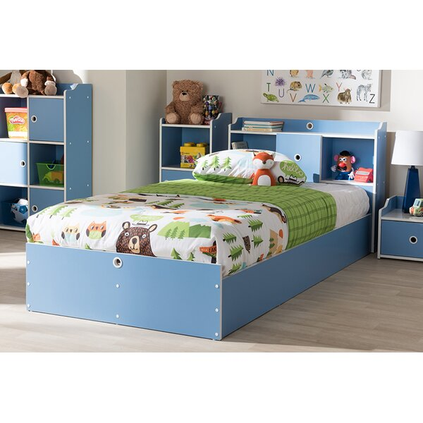 Mcquade Childrens Platform Twin Panel Bed with Shelves by Harriet Bee