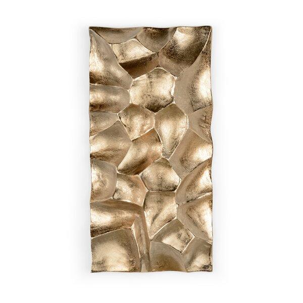 Gator 9.75 x 19.5 Aluminum Splitface Tile in Gold by Wildwood