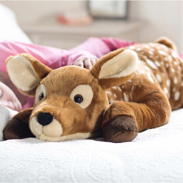 Fuzzy Spotted Fawn Body Pillow by Plow & Hearth| @ $79.95
