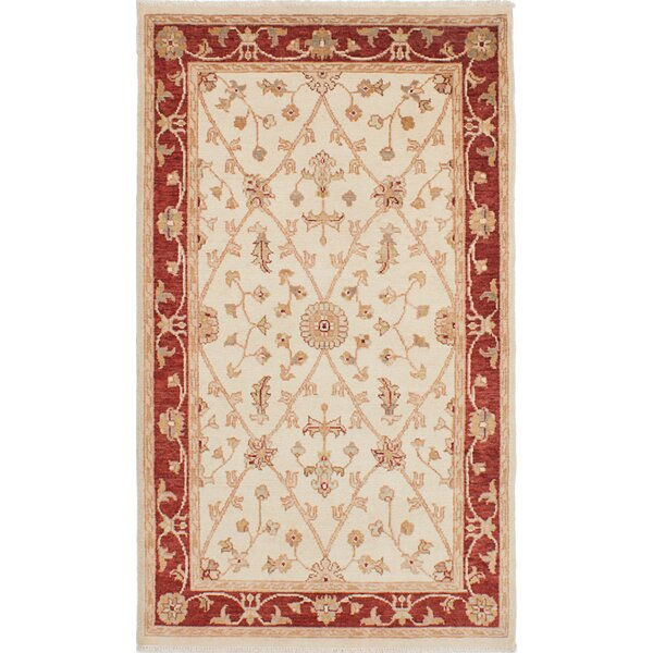One-of-a-Kind Barrows Hand-Knotted Cream Area Rug by Fleur De Lis Living