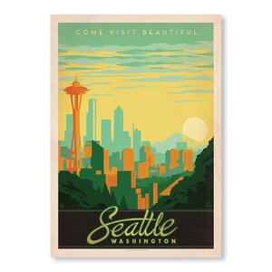 Seattle Washington Vintage Advertisement by East Urban Home