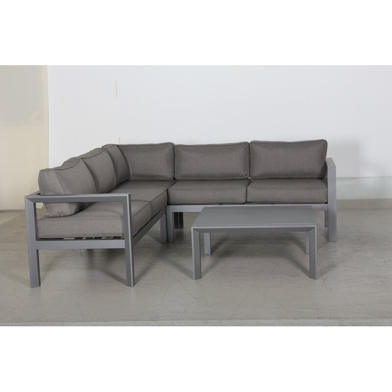 Ebern Designs Abygayle 2 Piece Sectional Seating Group with