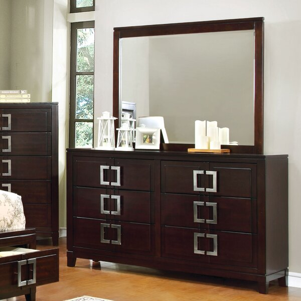 Suruga Elsin 6 Drawer Dresser with Mirror by Latitude Run