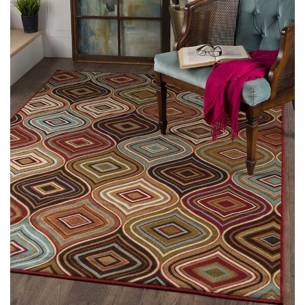 Calhoun Cream/Brown Area Rug by Andover Mills