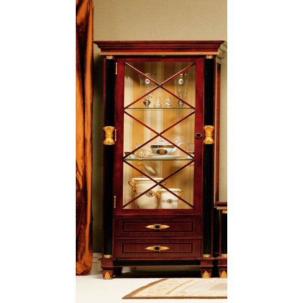 Pursel One Door Display Curio Cabinet by Astoria Grand